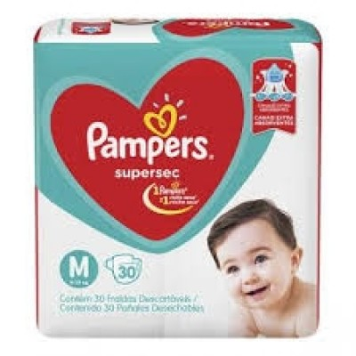 PAMPERS BASICA SUPERSEC ECON M 30 (NOVO)