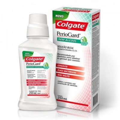 COLGATE PERIOGARD SOLUCAO BUCAL S/ ALCOOL EXTRA MINT 250ML