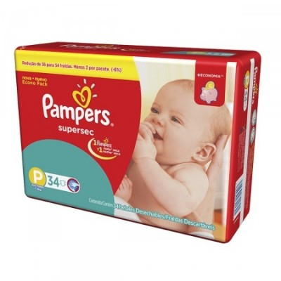 PAMPERS BASICA SUPERSEC ECON P 34