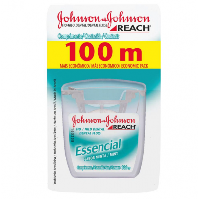 Fio Dental Johnson's Reach Essencial Menta 100m