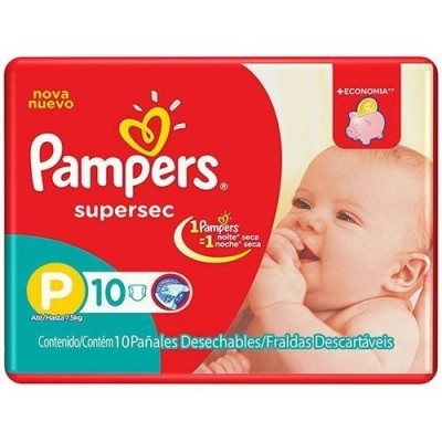 PAMPERS BASICA SUPERS P C/10